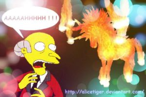 Mr Burns VS Firemane by Alicetiger