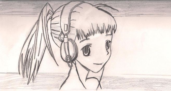 Girl with Headphones by MakorraLover827