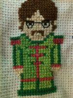 Cross-stitched, mini, Srg. Pepper's John by PaulAndTheBeatles