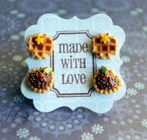 Stud Earrings Set by colourful-blossom