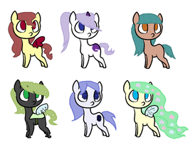 Pony Adopts by vega37