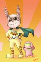 Commission: SuperBunnyBun by Izuma
