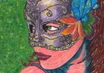 The girl with the masquerade mask by spanner88
