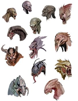 monster head sketches by calisto-lynn