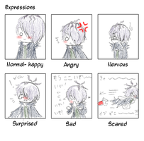 expressions of garry by aoito95