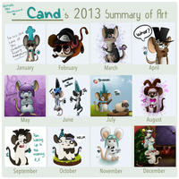 2013 summary of art by Candehh