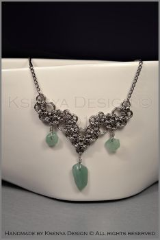 Jade Necklace by KsenyaDesign