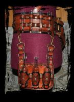 steampunk leather belt utility by Lagueuse