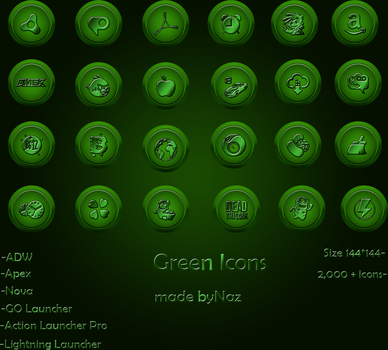 Green  Icons2 by Naz-B