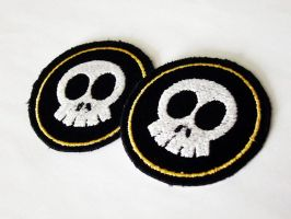 Commission patches cute skull by shushuwafflez