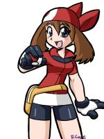 Pokemon trainer May by rongs1234