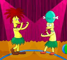 Sideshow Bob vs Sideshow Mel by CartoonSilverFox