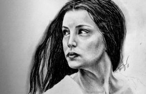 Attempt to draw Arwen from LOTR :P by Thessen