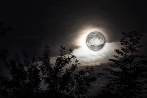 Supermoon - double exposition by fotografka