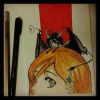 Orihime and Ulquiorra by lailaxsx