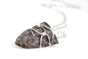Honey Golden Brown Obsidian Point Necklace by DanielAPierce