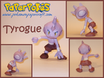 Tyrogue Papercraft by Skeleman