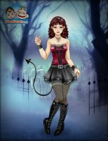 Scary Lily Halloween Makeover ~ Succubus by MiniatureBlueOwl