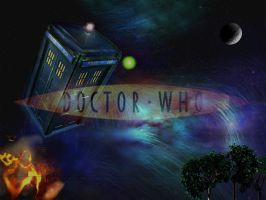 Doctor Who Wallpaper by MidnightMoon102