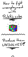 Unemployment fighting - Rubik's cube by Khrinx