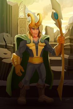 Loki fan art by TeslaRock