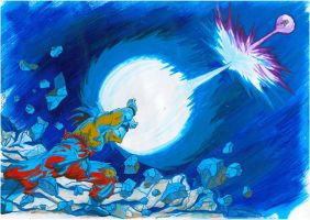 Goku VS Vegeta - The BEST clash by Zackary