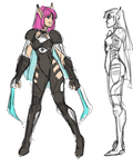 Phantasy Star IV Fangame - Rika update concept by ultema