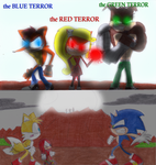 Blue Terror, Green Terror and Red Terror by sonic4ever760