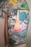 finished batman tattoo arm 2 by carlyshephard