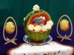 Watermelon Carving - Easter Basket and Eggs by jolabrodnica