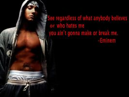 Best Eminem Quote by Dpalmer75
