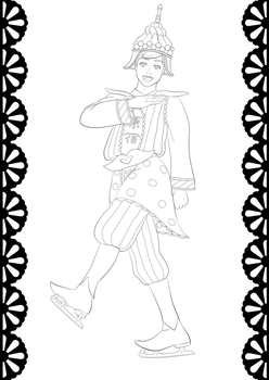 Phichit coloring page! by Warriorsatthedisco