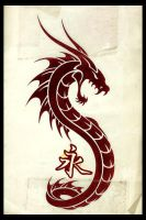 Dragon Tattoo by hellboundhappy