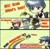 NEL, GRAB ALBEL'S HAIR by KT-Zombie