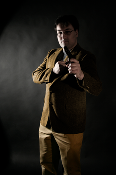 Colonel Mustard with Revolver by capturethemoment777