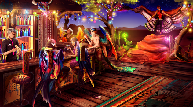 Coms: The Eyrie Bar [Kansasjeeper] by Blue-Hearts