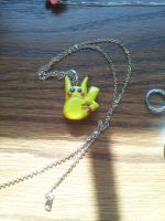Pikachu Necklace Charm by XxLissiexXx