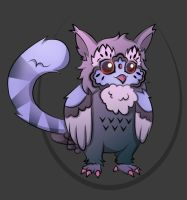 Adoptable - OwlCat [Hatched] by Tzenor