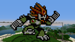 Minecraft 8-bit Slash Man by tam6231990