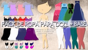 PACK DE ROPA PARA DOLL - 27 RECURSOS + BASE by JoyJoyJoChi