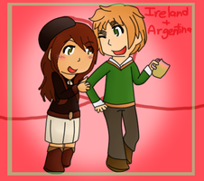 Ireland and Argentina (Late HBG) by poi-rozen