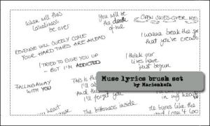 Muse lyrics PS brushes by Marienkefa