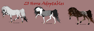 20 point horse adoptables by RedTrinitysAdopts