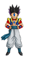 Hatchy Gotenks 2nd form by RobertoVile