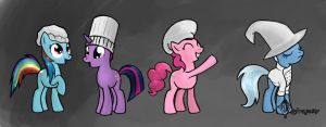 Chef Ponies! by Tetrapony