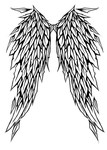 Gothic+angel+wings+tattoo+designs