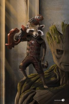 Rocket and Groot by Blind-Pixel777