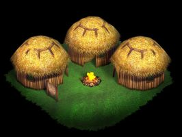 Prehistoric Huts by Poopgoblyn