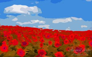 Red Field Of Flowers by Zophic