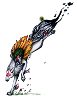 Amaterasu by DragonOfSilverStars